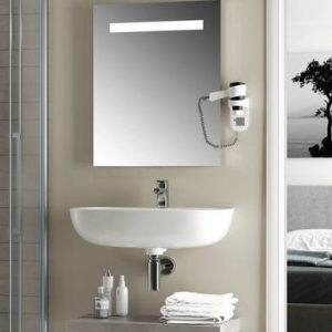 Oglinda cu iluminare led mediana Ideal Standard MirrorLight 80x70 cm