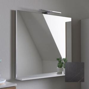 Oglinda cu polita gri KolpaSan Evelin 80 cm