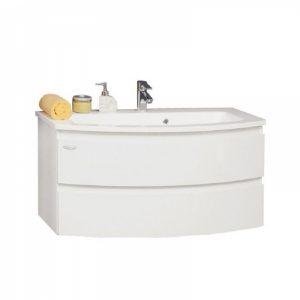 Set lavoar alb mobilier cu sertare KolpaSan Iman alb 80 cm