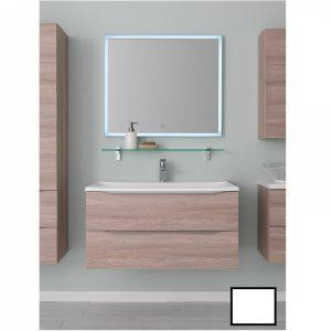 Set lavoar alb mobilier cu sertare alb mat KolpaSan Tara 71 cm