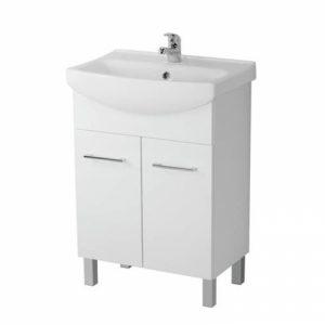Mobilier cu usi pentru lavoar Cersania picioare alb Cersanit Olivia 60 cm alb