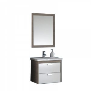 Set lavoar mobilier cu sertare oglinda KolpaSan Sara 62 cm