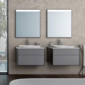 Set mobilier cu sertare lavoar Kerrock alb mat KolpaSan Gloria 70 cm PREMIUM