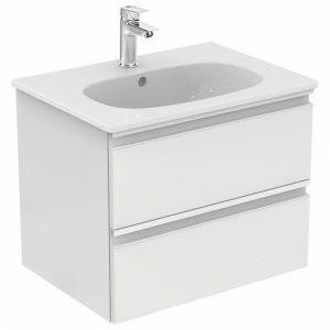 Set mobilier suspendat si lavoar Ideal Standard Tesi 60 cm alb lucios
