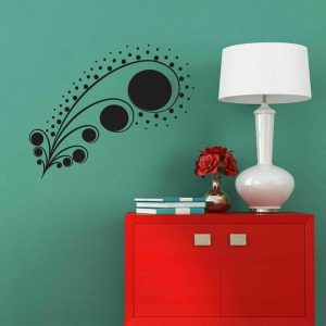 Sticker decorativ de perete Sticky, 260CKY5014, Negru