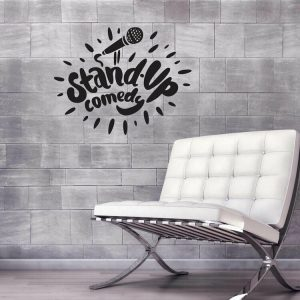 Sticker decorativ de perete Sticky, 260CKY5072, Negru