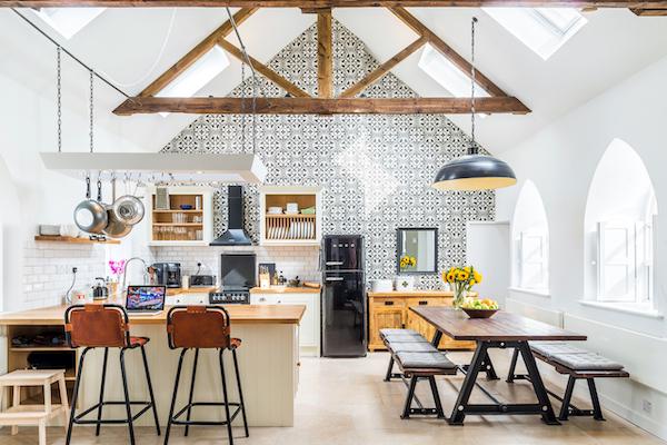 amenajare living cu bucatarie open space