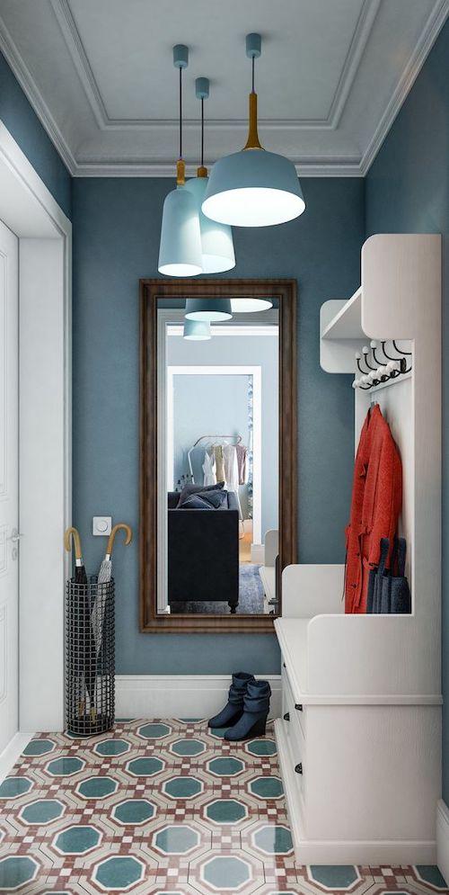 idei amenajare hol cu oglinda
