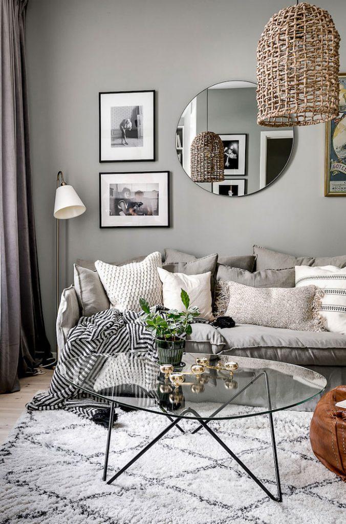 living modern cu decoratiuni