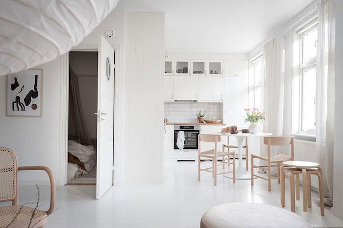 amenajare apartament alb in stil scandinav mobilier in stil scandinav