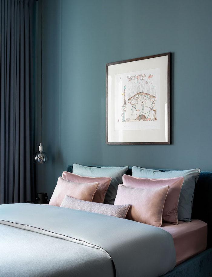 idee amenajare dormitor elegant in garsoniera