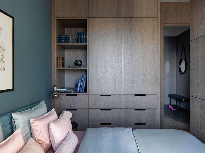 idei amenajare garsoniera eleganta cu dormitor