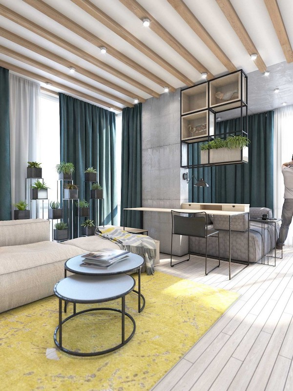 idee amenajare apartament modern cu birou