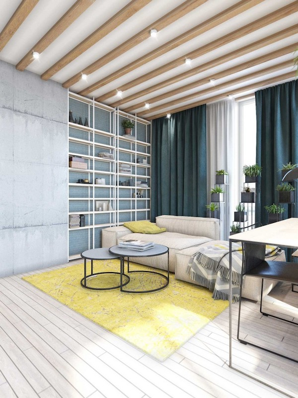 idee amenajare apartament modern living industrial