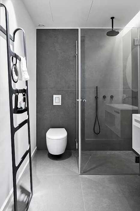 idee amenajare baie moderna cu paravan din sticla pentru dus