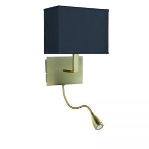 Aplica Searchlight Wall Hotel Black Brass Angle