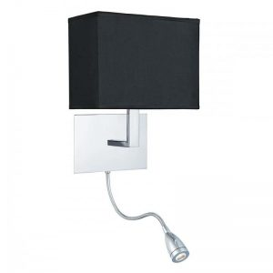Aplica Searchlight Wall Hotel Black Chrome Angle
