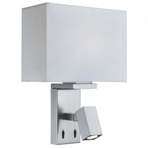Aplica Searchlight Wall Light Satin Double