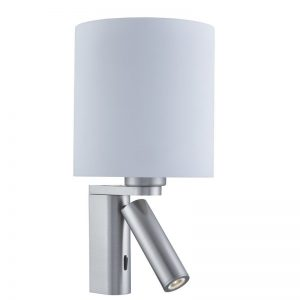 Aplica Searchlight Wall Light Satin Round