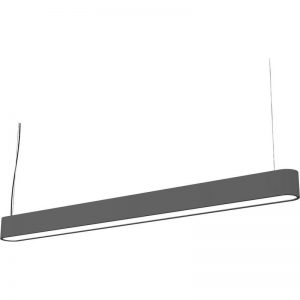 Lustra Nowodvorski Soft LED Graphite 90x6