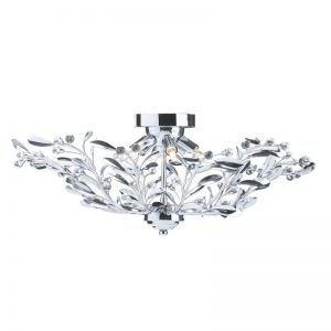 Plafoniera Searchlight Lima Chrome