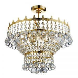 Plafoniera Searchlight Versailles Gold