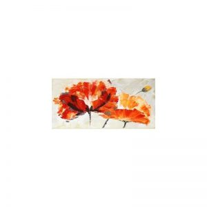 Tablou pictat manual Anemone, 45x90cm