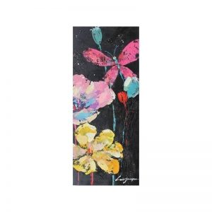 Tablou pictat manual Florid C, 100x40cm