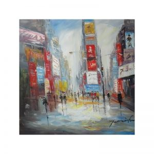 Tablou pictat manual New York moment, 80x80cm