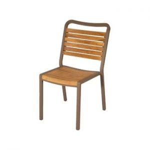 Set 4 scaune de grădină din lemn de tec Ezeis Typon