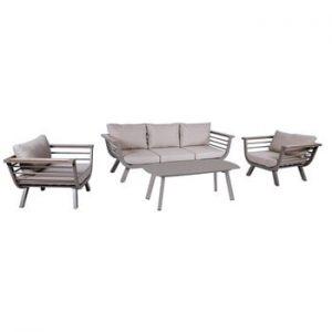 Set mobilier de grădină din 4 piese, cadru din aluminiu ADDU Aroa