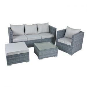 Set de canapea, fotoliu și masă de grădină ADDU Baeza