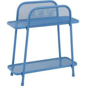 Masă auxiliară metalică pentru balcon ADDU MWH, înălțime 70 cm, albastru