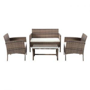 Set mobilier de grădină din ratan artificial Timpana Berry