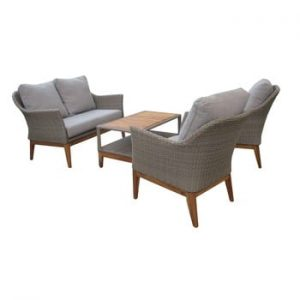 Set mobilier de grădină din ratan artificial Ezeis Blum