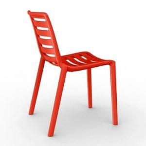 Set 2 scaune de grădină Resol Slatkat, roșu