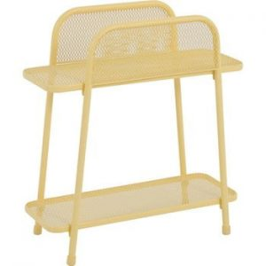 Masă auxiliară metalică pentru balcon ADDU MWH, înălțime 70 cm, galben