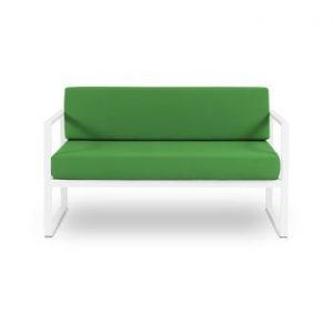 Canapea cu două locuri, adecvată pentru exterior Calme Jardin Nicea, verde