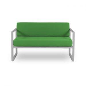 Canapea cu 2 locuri, adecvată pentru exterior Calme Jardin Nicea, verde - gri