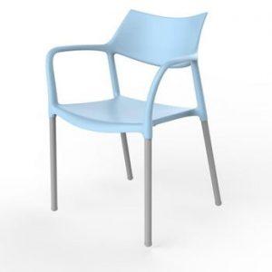 Set 2 scaune de grădină Resol Splash, albastru deschis