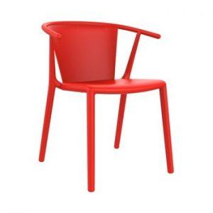 Set 2 scaune de grădină Resol Steely, roșu