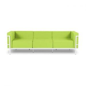 Canapea cu 3 locuri adecvată pentru exterior Calme Jardin Cannes, verde lime - alb
