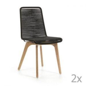 Set 2 scaune La Forma Glendon, gri închis