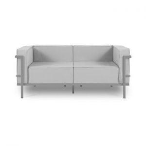 Canapea cu două locuri, adecvată pentru exterior Calme Jardin Cannes, gri - gri