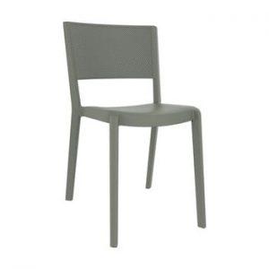 Set 2 scaune de grădină Resol Spot, gri maroniu