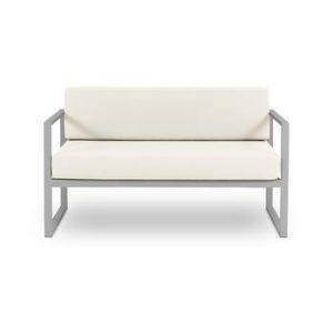 Canapea cu două locuri, adecvată pentru exterior Calme Jardin Nicea, bej - gri