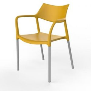 Set 2 scaune de grădină Resol Splash, galben