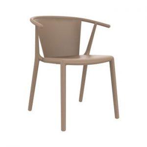 Set 2 scaune de grădină Resol Steely, maro nisipiu