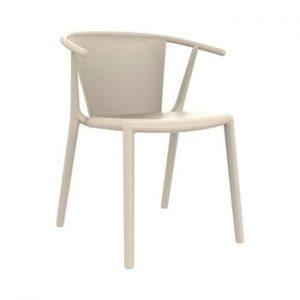 Set 2 scaune de grădină Resol Steely, alb fildeș