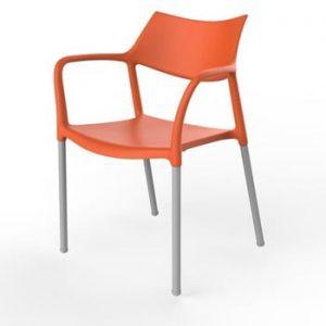 Set 2 scaune de grădină Resol Splash, portocaliu